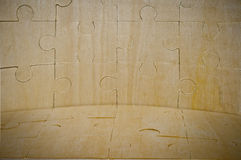 A wooden background is collected from puzzle Royalty Free Stock Image