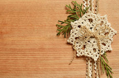 Background and a crochet lace Stock Images