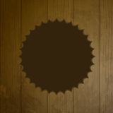 Wooden background with cut out border Stock Images