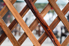 Wooden lattices. Details of wooden lattices background Royalty Free Stock Photography