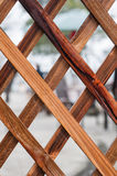 Wooden lattices. Details of wooden lattices background Royalty Free Stock Photos
