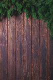 Wooden background with fir-tree Royalty Free Stock Image