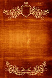 Wooden background with flourish detail Royalty Free Stock Photo