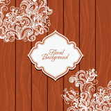 Wooden background with flowers Stock Photo