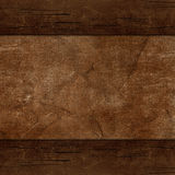 Wooden background. Wooden frame, leather Stock Photos