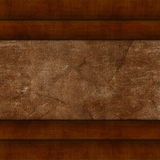 Wooden background. Wooden frame, leather Stock Image