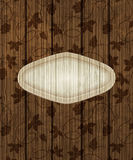 Wooden background with grapes Royalty Free Stock Images