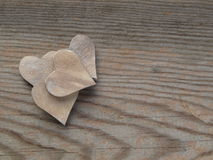 Wooden background hearts Stock Image