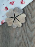 Wooden background with hearts Stock Image