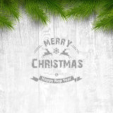 Wooden background with holiday typography Royalty Free Stock Images