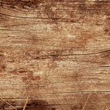 Wooden background with the leafs Stock Photography