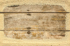 Wooden background  made of sand Stock Images