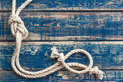Wooden background with marine knot Royalty Free Stock Photo