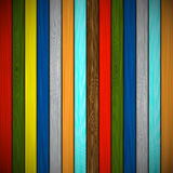 Wooden background of multicolored boards Royalty Free Stock Photography