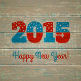 2015 on wooden background. New year symbol on wooden background Royalty Free Stock Image