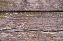 Wooden background from old boards aged by time. Wooden background of old boards aged with cracks stock photography