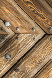 Wooden background, old gate of a castle, Poland. Stock Photography