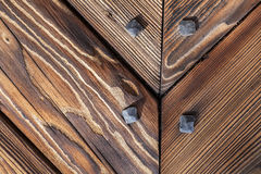 Wooden background, old gate of a castle, Poland. Royalty Free Stock Images