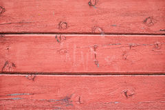 Wooden background. Old red wooden background in close up Royalty Free Stock Image