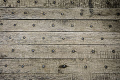 Wooden background. Old rustic wooden background with rusty nails Stock Photos