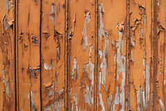 Wooden background with orange peeling paint Royalty Free Stock Photography