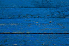 Wooden background painted blue Stock Photography