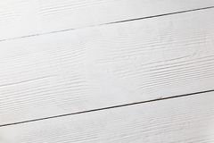 White wooden surface as a wooden background. Top view Royalty Free Stock Images
