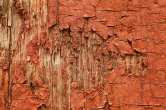 Wooden background with peeling paint Stock Images