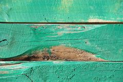 Wooden background with peeling paint Stock Photography