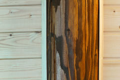 Wooden background from pine and oak Stock Photography