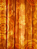 Wooden background with roses, vector Stock Photo