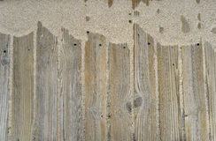 Wooden background with sand Royalty Free Stock Image