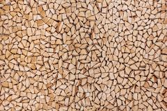 Wooden background of shattered tree trunks Royalty Free Stock Photography