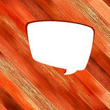 Wooden background with speech bubble. + EPS8 Stock Photos