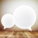 Wooden background with speech bubbles. EPS 10 Royalty Free Stock Images