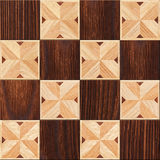 Wooden background, squares in a checkerboard pattern Royalty Free Stock Photos