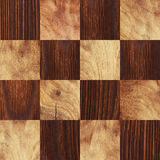 Wooden background, squares in a checkerboard pattern Royalty Free Stock Photography