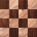 Wooden background, squares in a checkerboard pattern Stock Photo