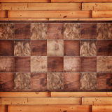 Wooden background, squares in a checkerboard pattern. Wood background, squares in a checkerboard pattern Stock Photo