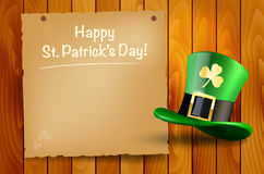 Wooden background with St.Patrick�s Day wish Royalty Free Stock Image