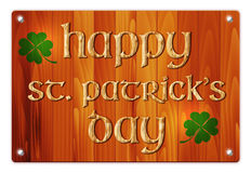 Wooden background with St. Patricks Day wish Stock Photography
