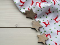 Wooden background with stars Royalty Free Stock Photography