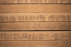 Wooden background surface with old natural pattern. Grunge surface wooden background top view. Wall of old wood backgrounden plank Stock Photography
