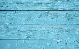 Wooden background texture horizontal with blue color Stock Photography
