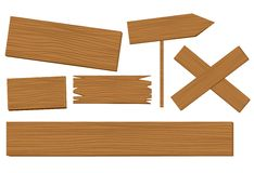 Wooden background vector. Illustration on white background Stock Image
