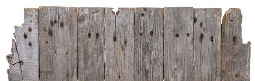Wooden background on white Royalty Free Stock Image