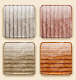 Wooden backgrounds for the app icons Royalty Free Stock Photos
