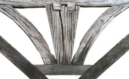 The Wooden  backrest bench Stock Photos