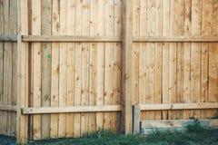 Wooden backyard fence Stock Photos