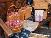 Wooden bags Stock Images